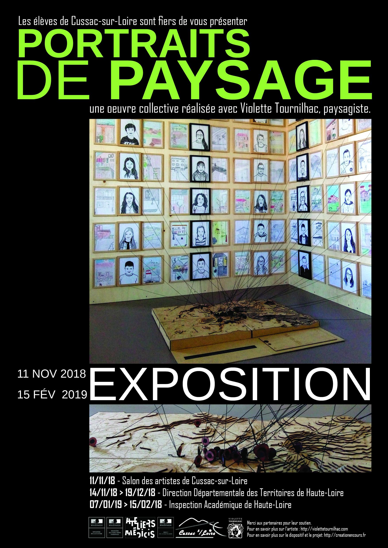 Affiche exposition A3_portrait de paysage